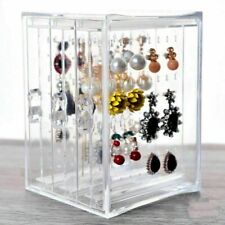 Transparent Acrylic Earring Necklace Jewelry Display Rack Stand Organizer Holder