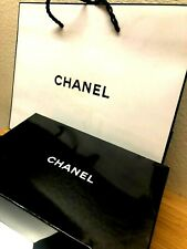 CHANEL  NEW IN A BOX PATTENT LEATHER SMALL MAKE AP BAG AND CHANEL GIFT BAG