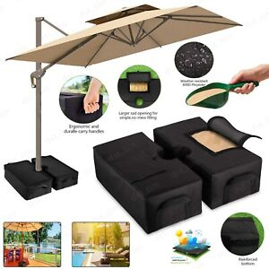 """18"""" Square Weight Sand Bag for Outdoor Umbrella Offset Base Stand Patio Garden"""