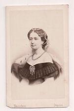 Vintage CDV Princess Louise of Hesse-Kassel Queen of Denmark Neurdein Phot