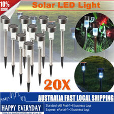 20X Set for Outdoor Garden LED Solar Powered Yard Path Lawn Lamp Light Xmas Deco