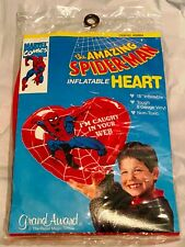 Amazing Spider-man Inflatable Heart SEALED 1992 Valentine's Day RARE