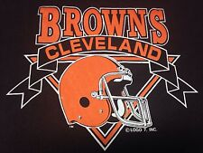 Vintage Cleveland Browns Football T-shirt NFL Stadium Dawg Pound Helmet Soft