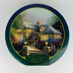 Thomas Kinkade 750 Piece Round Jigsaw Puzzle - Hollyhock House  - New Sealed