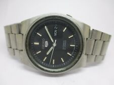 ORIGINAL VINTAGE SEIKO 5 AUTOMATIC JAPAN MADE MOVEMENT DAY & DATE WRIST WATCH
