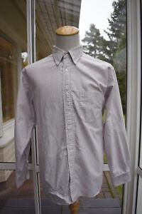 J. Press, button-down shirt, size 17.5, full cut, stripes, Ivy League, RRP 125 $