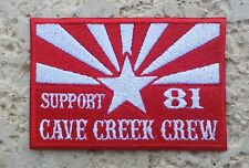 Hells Angels CaveCreek Support 81 Arizona Flag Patch