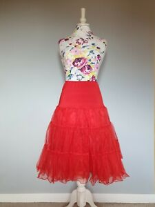 Red Petticoat Pinup 1950s Style