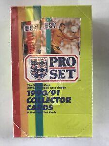 1990-91 PRO SET SOCCER SEALED WAX PACK BOX 48 PACKS ALLEN SHEARER RC Mint