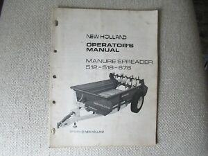 1973 New Holland 512 518 676 manure spreader operator's manual