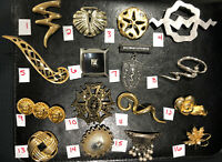 PICK A BROOCH PIN- VINTAGE -NOW - ABSTRACT BEAR LEAF JJ LION GOLD ETC BN68