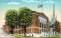 1910 Orange Massachusetts Town Hall Postcard EN
