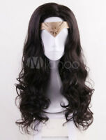 2020 Film Wonder Woman Long Dark Brown Wavy Cosplay Wig Halloween
