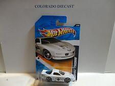 2011 Hot Wheels #163 White Pontiac Firebird Highway Patrol w/OH5 Spokes