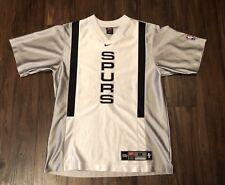 Vintage 90s NIKE San Antonio Spurs Shooting Shirt NBA Authentics Fiesta Logo Med