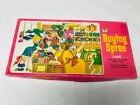 Buying Spree Game, Vintage Whitman Board Game, NOT COMPLETE, 1970s Collectible