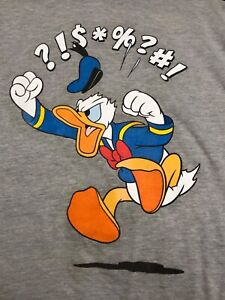 New Disney Donald Duck Mad Vintage Mens Classic T-Shirt New