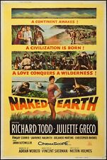 16mm NAKED EARTH (1958).  B/W British/American Feature Film.