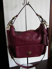 COACH Legacy Leather Courtenay Deep Port Shoulder Bag Hobo Cross Body 22381