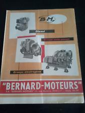 prospectus bernard moteurs groupe moto pompe et électrogène