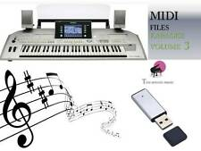 MIDI File Karaoke USB stick for Tyros 2 Volume 3 NEW