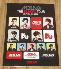 MBLAQ THE BLAQ% TOUR CONCERT OFFICIAL GOODS STICKER TYPE B NEW