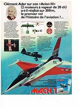 PUBLICITE ADVERTISING  054  1979  CLEMENT ADER   USA AIR FORCE   MACH 1   avion