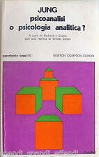 CARL GUSTAV JUNG PSICOANALISI O PSICOLOGIA ANALITICA? NEWTON COMPTON 1974