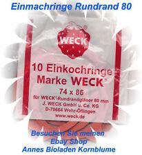 50  Einkochringe ( Ringe, Gummiringe)  74x86 RR80 für WECK Einkochgläser