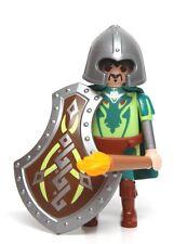 Playmobil Figure Custom Dragon Castle Knight Warrior w/ Shield Torch Cape 4836