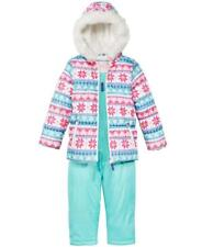 CARTER'S® Little Girl's 6X Fair Isle Fur Trimmed 2-Pc. Jacket & Snowsuit Set NWT