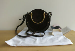 New Chloe Small Pixie Double Handle Bag, Cross body Carbon Brown Unused, Receipt