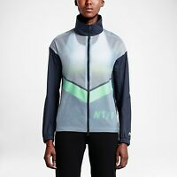 NIKE RUN TRACK AND FIELD WINDRUNNER JACKET BLUE,GRAY 724097-451 WOMEN'S SIZE XS