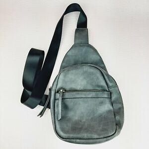 Everyday Casual Sling Bag Grey Unisex Men or Women Crossbody Shoulder Backpack