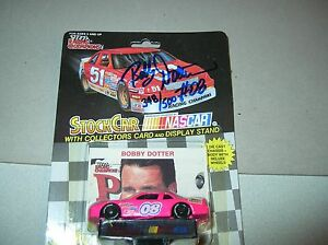Autograph 08 Bobby Dotter NASCAR Diecast stockcar 1992 car RC 1/64 signed