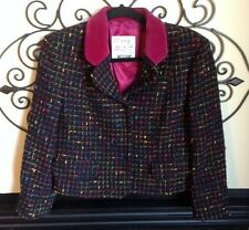 vintage 80's moschino cheap and chic Made In Italy tweed velvet blazer large