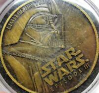 Star Wars Episode 3 Limited Edition Encased Metal Token Darth Vader Obi Wan 2005
