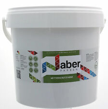 (6,50 €/L) 10 Liter - Wetterschutzfarbe - WEISS-