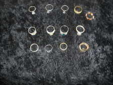 Assorted Costume Jewelry 14 Piece Ring Lot