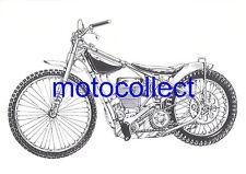 JAWA Speedway Bike - Detailed  Drawing..A3 Print..Free Postage Worldwide