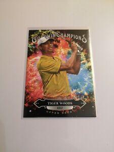 2020 UD Goodwin Champions, Tiger Woods, Splash of Colors, Golf