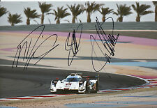 Lotterer, Treluyer, Fässler Audi Joest Hand Signed Photo 12x8 Le Mans 5.