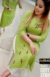 Women Pakistani Stitched Salwar Kameez Stitched Palazzo Kurta 2XS-32 Size Dress