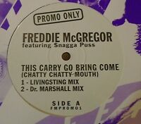 "FREDDIE McGREGOR ft SNAGGA PUSS ~ This Carry Go Bring Come ~ 12"" Single PROMO"