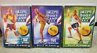 Billy's Boot Camp Mission 1 2 3 Workout Cardio Fitness Elite 3 DVDs NIP Sealed
