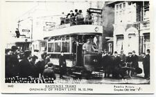 Pamlin repro photo postcard M42 First Tram Hastings Sussex 1906