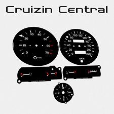 Plastic BLACK DIALS Holden Kingswood HZ GTS 77-79 monaro gauge dash tacho speedo