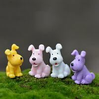 4pcs Hund Miniatur Fee Garten Ornament Puppenhaus DIY Handwerk Pflanze Fi OOC
