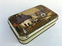 Vintage Parry's Sweet Confectionery Scenery Adv. Litho Tin Box Rear Collectible