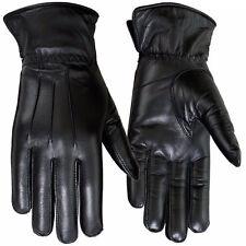 Winter Dress Gloves Women Thermal Linning Genuine Leather Glove Black, 7-Medium